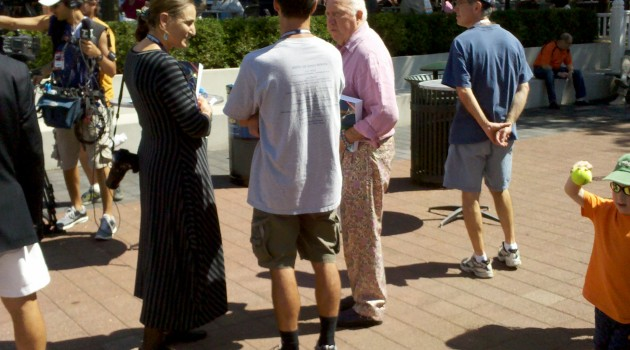 Bud Collins and his trademark pants