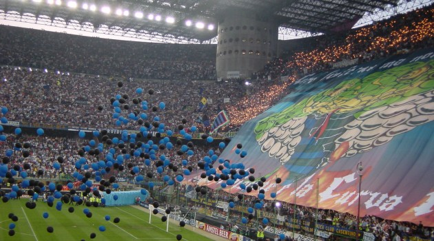AC Milan vs. Internazionale Soccer Match at San Siro