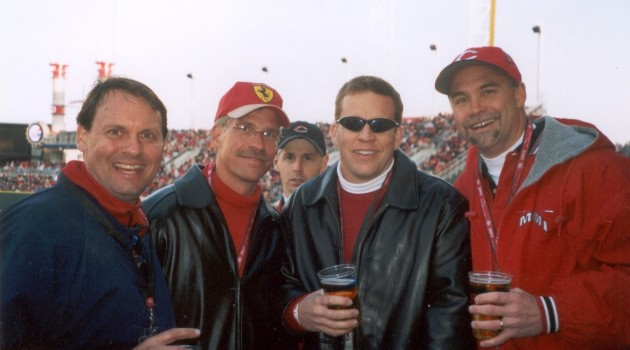 Opening Day 2003 -- First Game at Great American Ballpark